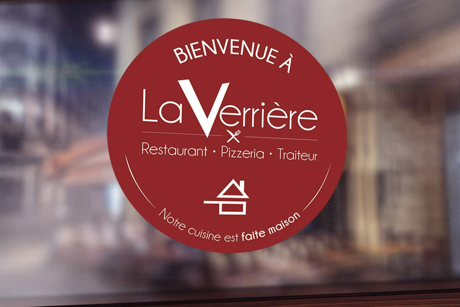 Sticker vitrine – Restaurant La Verrière